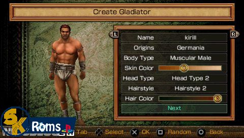 Gladiator Begins (USA+DLC) psp android 5kroms