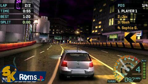 Need for Speed Underground Rivals (USA) psp iso 5kroms
