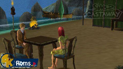 Sims 2 Castaway (USA) psp iso 5kroms
