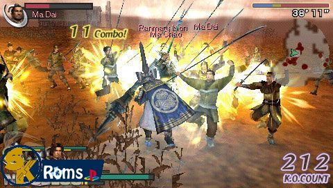 Warriors Orochi (Europe) psp iso 5kroms