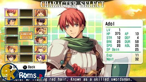 Ys vs. Sora no Kiseki Alternative Saga (English Patched) psp iso 5kroms
